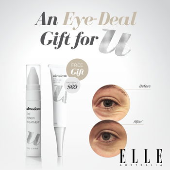 Ultraderm eye deal gift as seen in ELLE magazine Australia