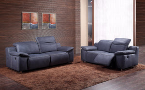 Campa 2 Seater Recliner Sofa - Grey
