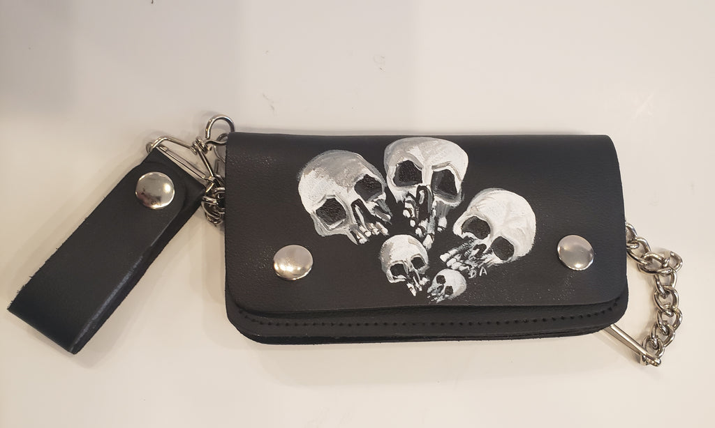 Handmade Skull Biker Wallet with Chain - Sur Tan Mfg. Co.