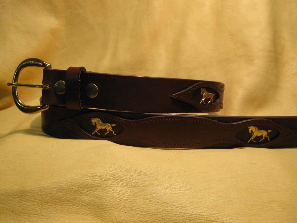 Picture-Framed Overlay Bridle Leather Belt - Sur Tan Mfg. Co.