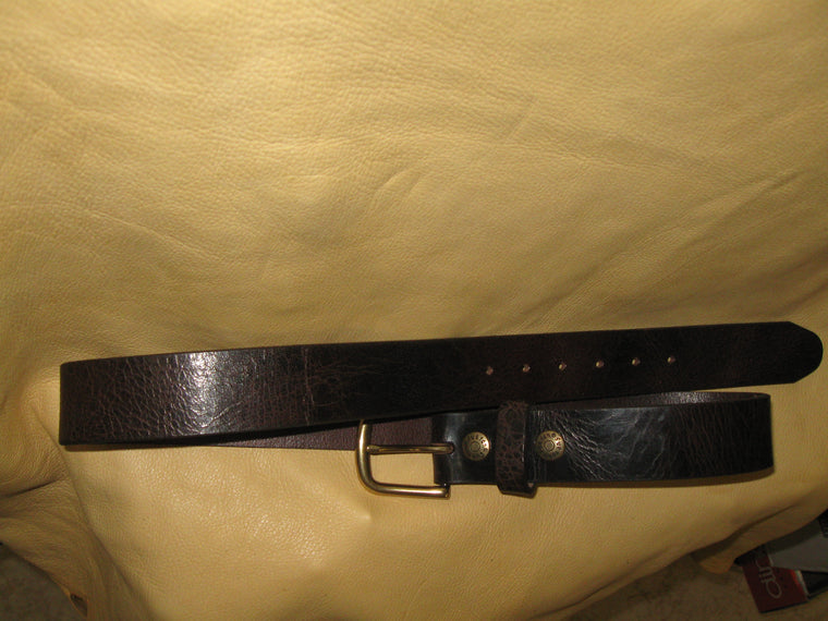 Crinkle Buffalo Leather Belt