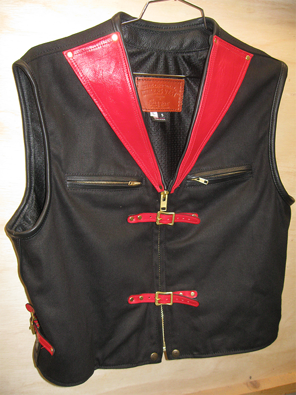 "Sur Tan ""Patent Pending"" Original Biker's Vest w/ Leather Trim"