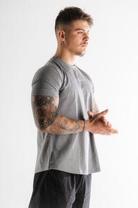 Sparta 'Ignite the Warrior' Training T-shirt - Grey Marl/White - Sparta Gym Wear