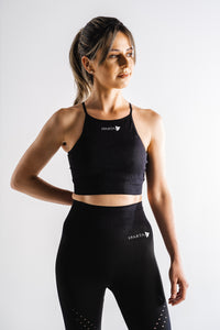 Sparta Laconic Seamless Sports Bra - Black - Sparta Gym Wear