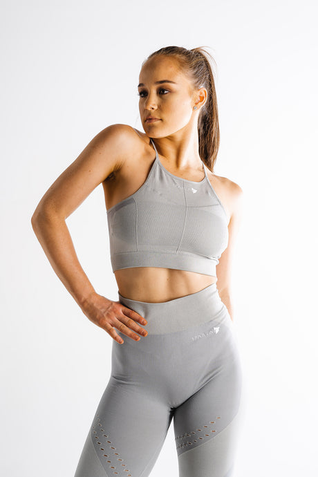 Sparta Laconic Seamless Sports Bra - Charcoal Grey - Sparta Gym Wear