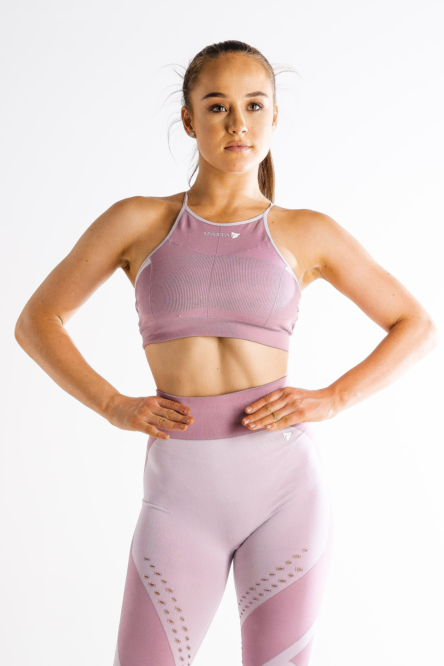 Sparta Laconic Seamless Sports Bra - Shadow Rose - Sparta Gym Wear