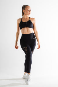 Sparta Evo Seamless Sports Bra - Black - Sparta Gym Wear