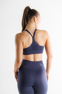Sparta Evo Seamless Sports Bra - Sapphire Blue - Sparta Gym Wear