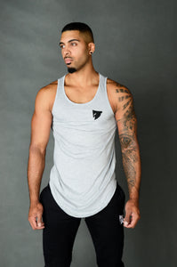 Sparta WARFIT Scoop Tank - Grey - Sparta Gym Wear