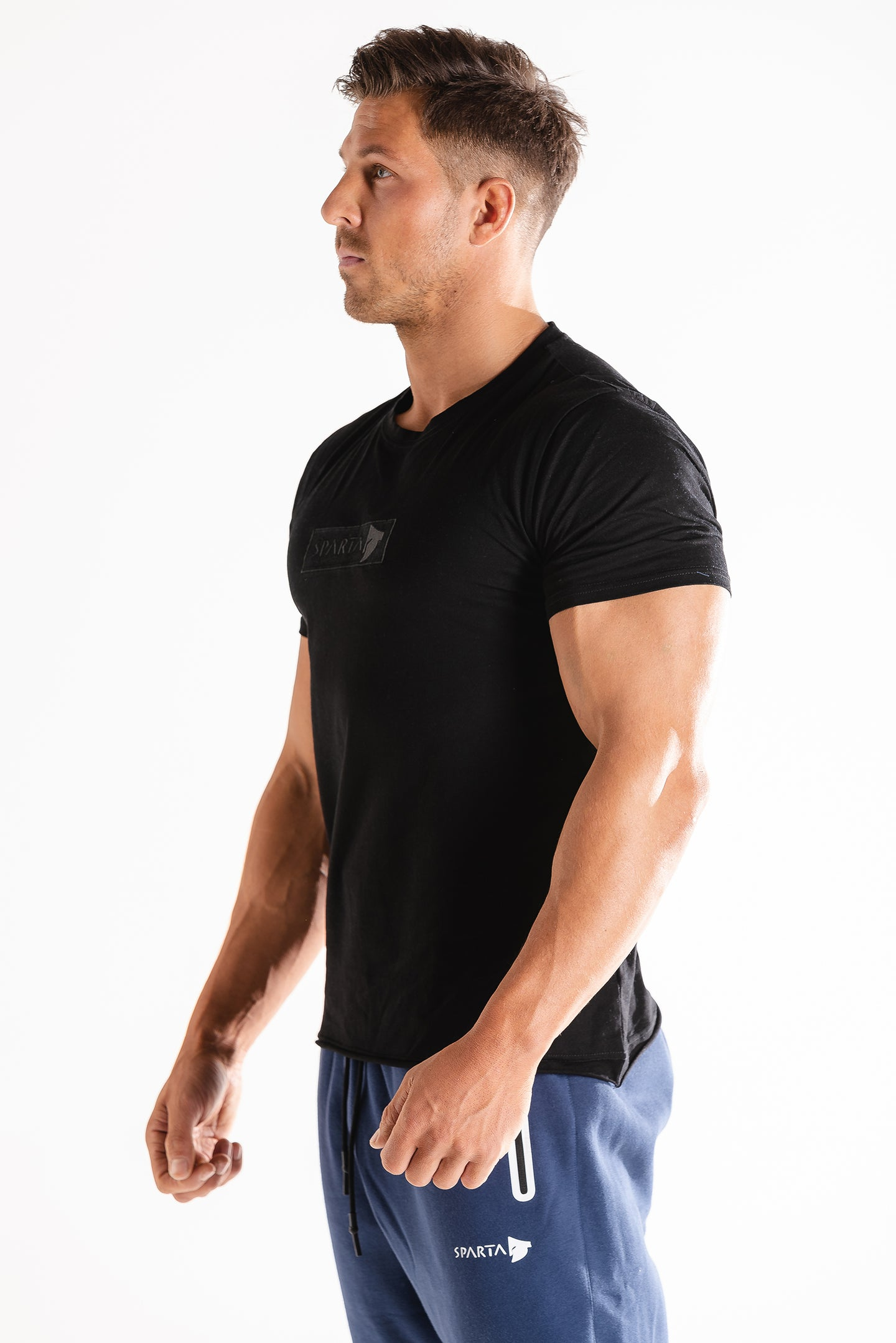 Sparta Raw T-Shirt - Black - Sparta Gym Wear