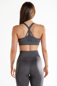 Sparta Ultra Seamless Sports Bra - Storm Grey - Sparta Gym Wear