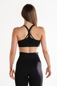 Sparta Ultra Seamless Sports Bra - Black - Sparta Gym Wear