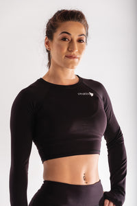 Sparta Ultra-Thermic Crop Long Sleeve - Black - Sparta Gym Wear