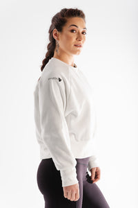 Sparta Thermic Fleece Oversized Jumper - White - Sparta Gym Wear