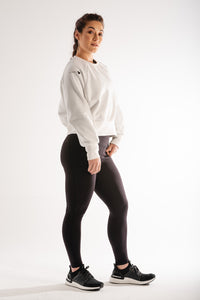 Sparta Thermic Fleece Oversized Jumper - White - Sparta GymWear