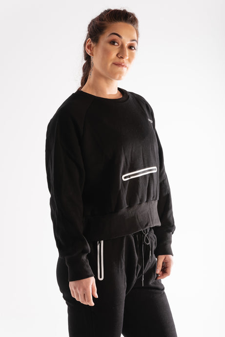 Sparta Technical Oversized Fleece Jumper - Black - Sparta Gym Wear