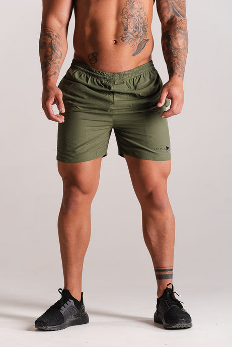 Sparta Tech Shorts - Khaki - Sparta Gym Wear