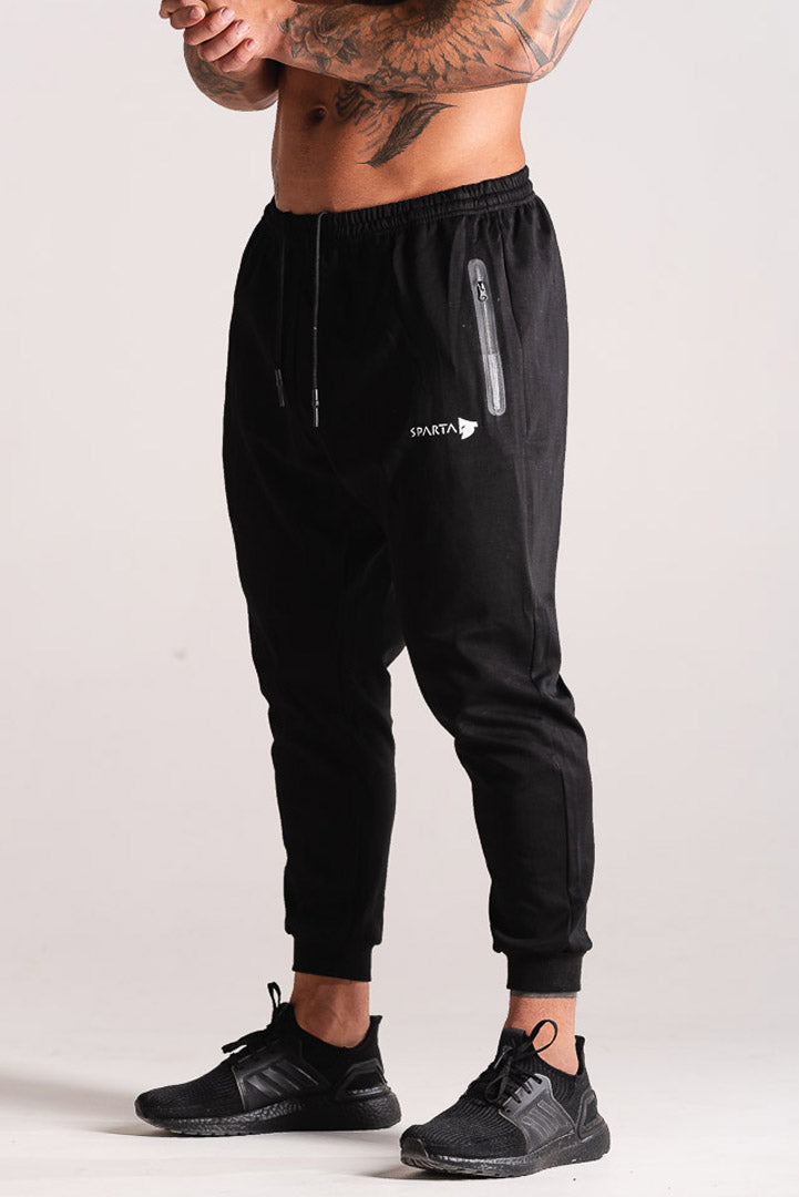 Sparta Technical Knit Jogger - Black - Sparta Gym Wear