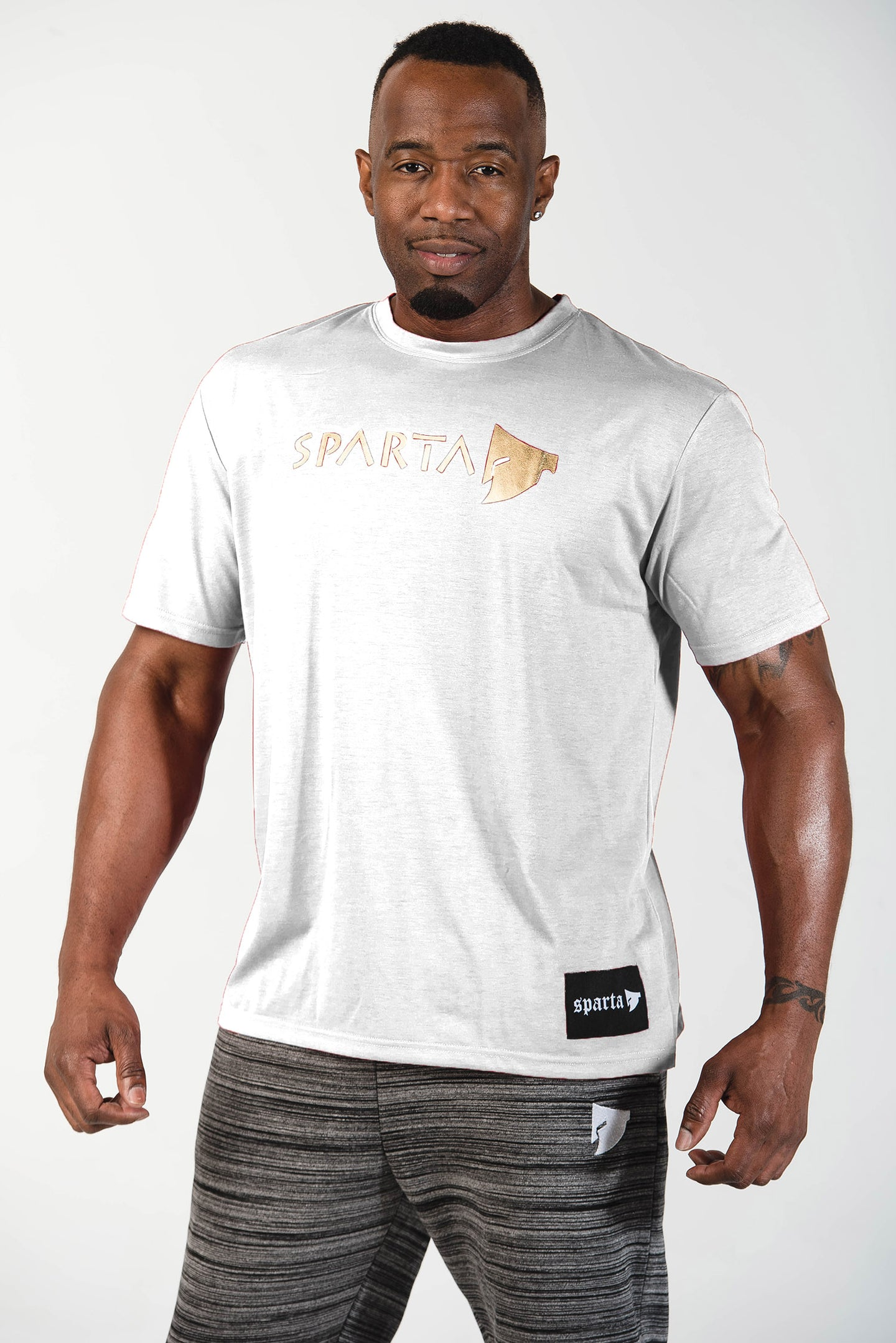 Sparta Signature Tee - White - Sparta Gym Wear
