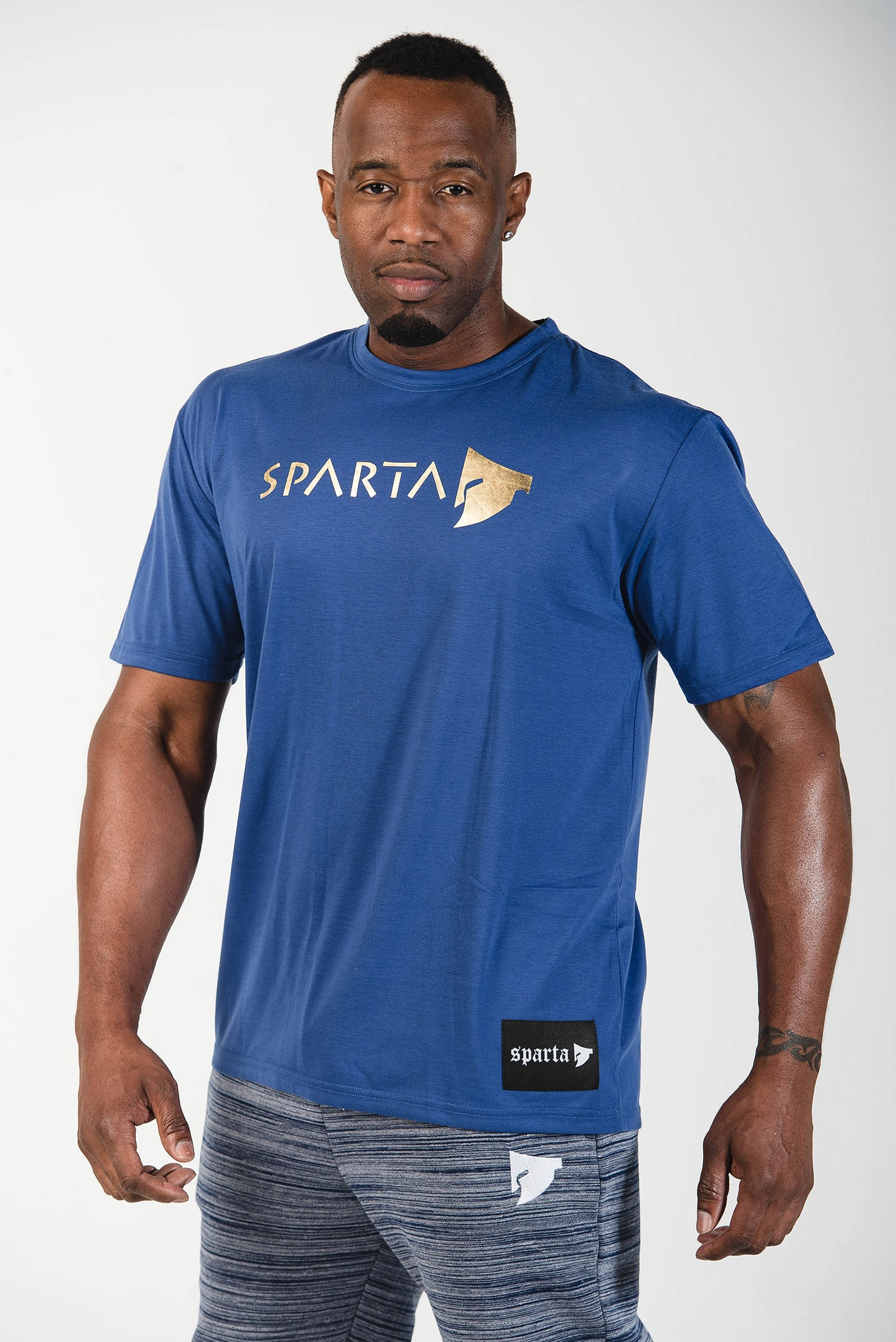 Sparta Signature Tee - Blue - Sparta Gym Wear