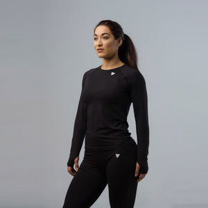 Sparta Dry Long Sleeve Top - Black - Sparta Gym Wear
