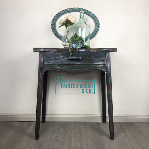 This Hall Table is painted with a variety of EMF & Botanics Colours and has been Sealed with CLEAR Soapstone Wax.