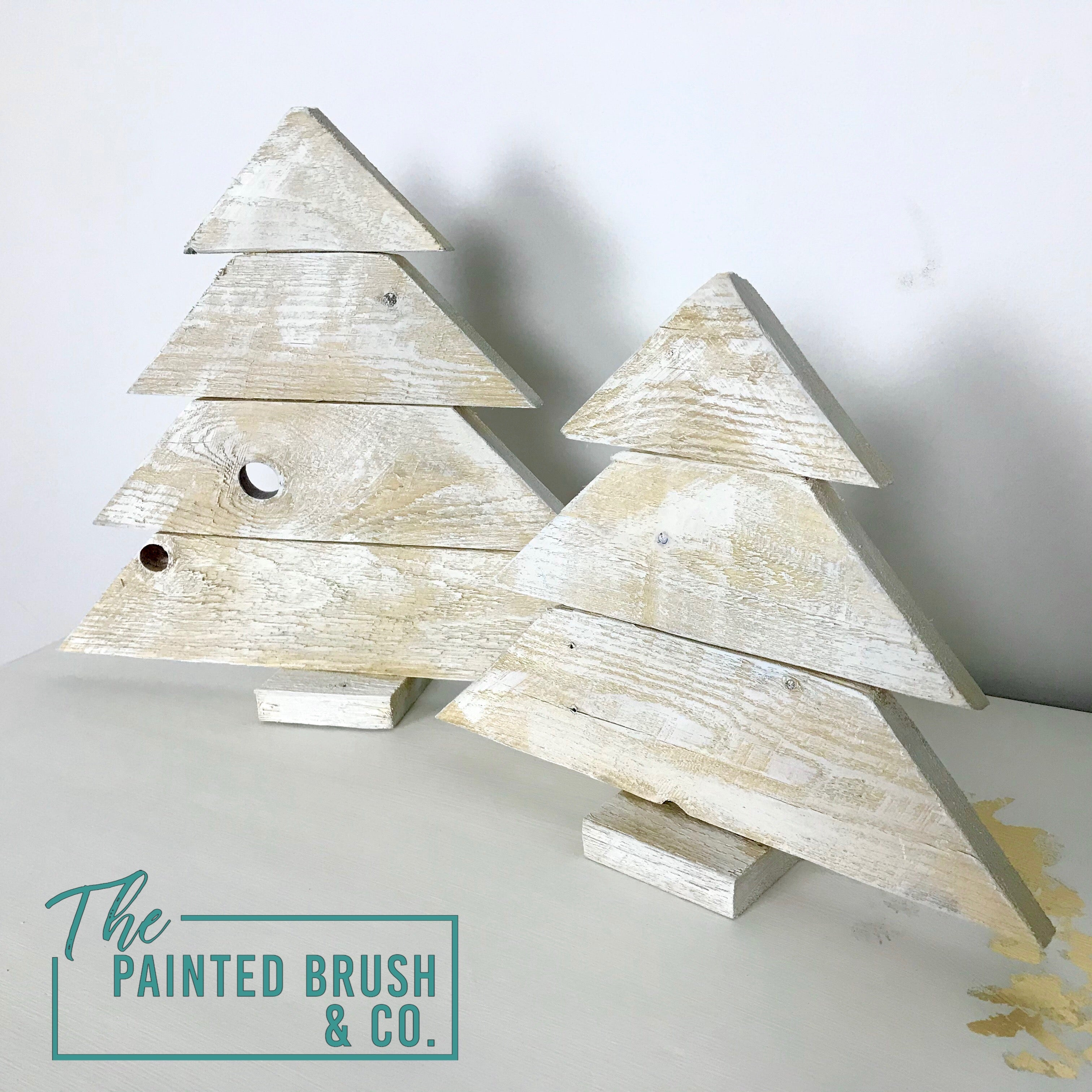 Reclaimed Timber Christmas Trees - Pair