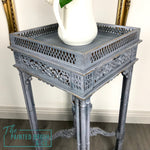 Delft Blue Carved Table
