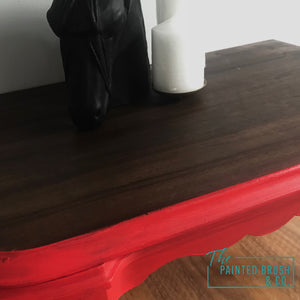 Red & Black Wax Table