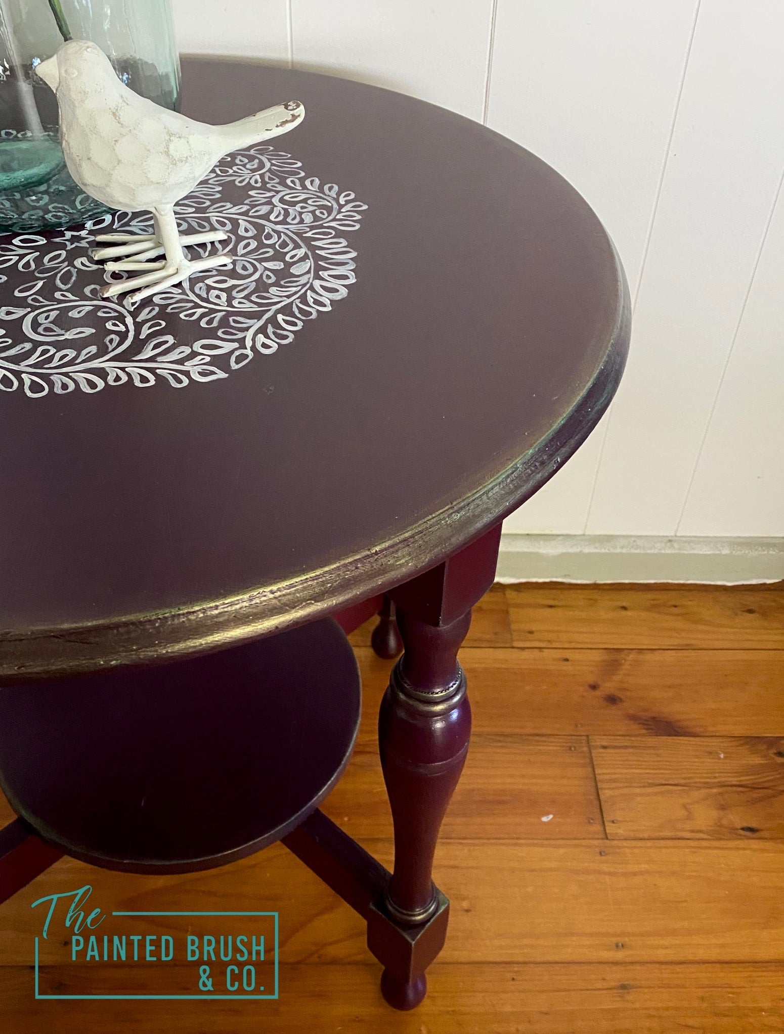 Plum End Table