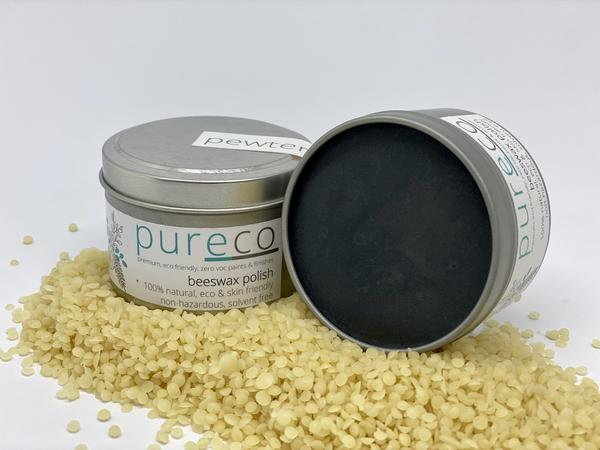 Pureco Beeswax Polish - Pewter