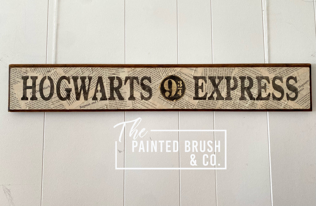 Hogwarts Express Reclaimed Sign