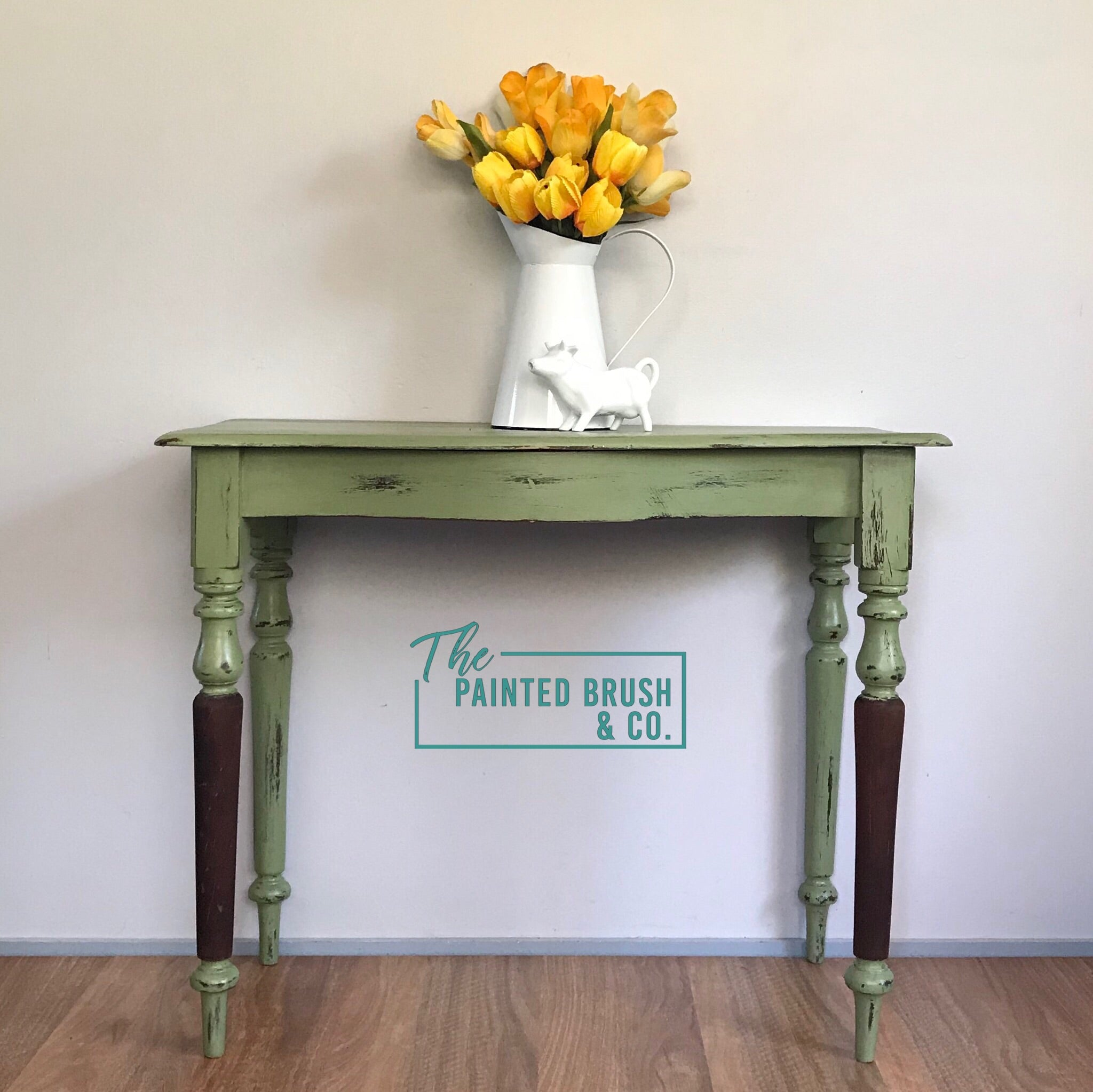 Olive Country Hall Table