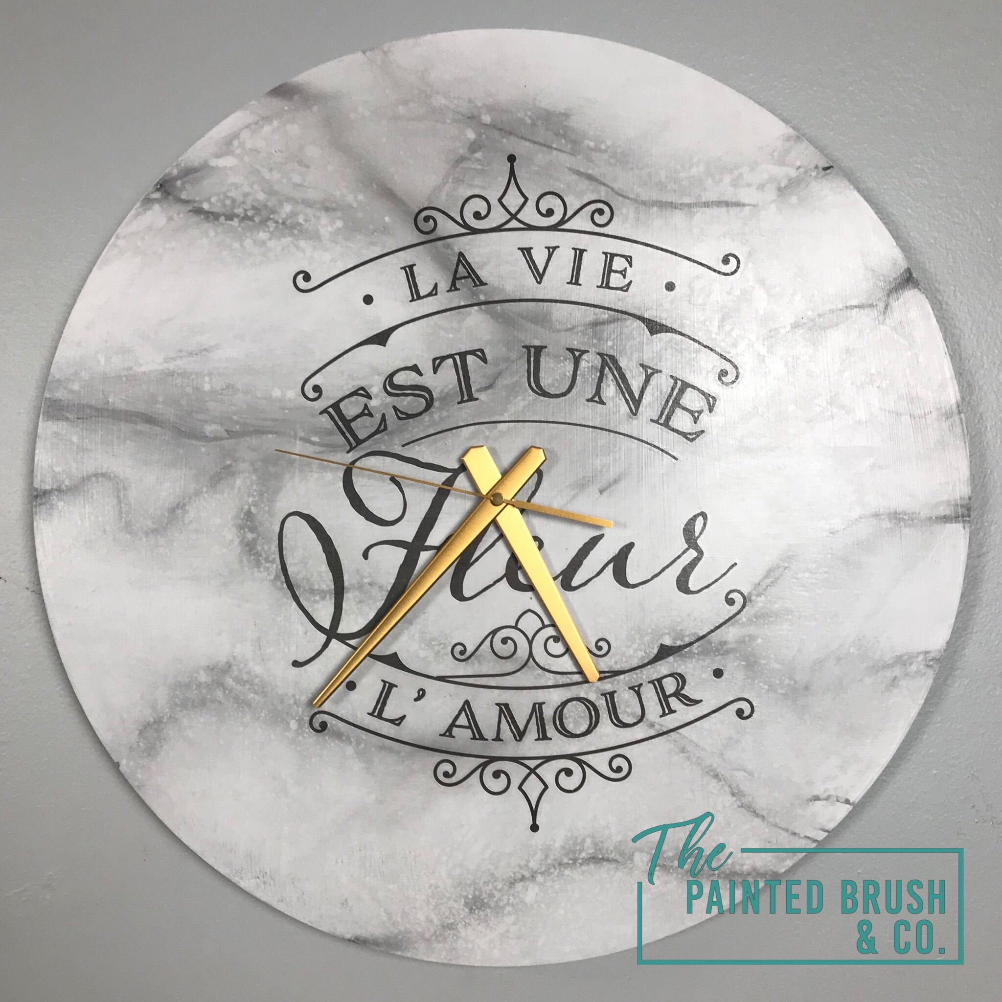 Faux Marble Clock