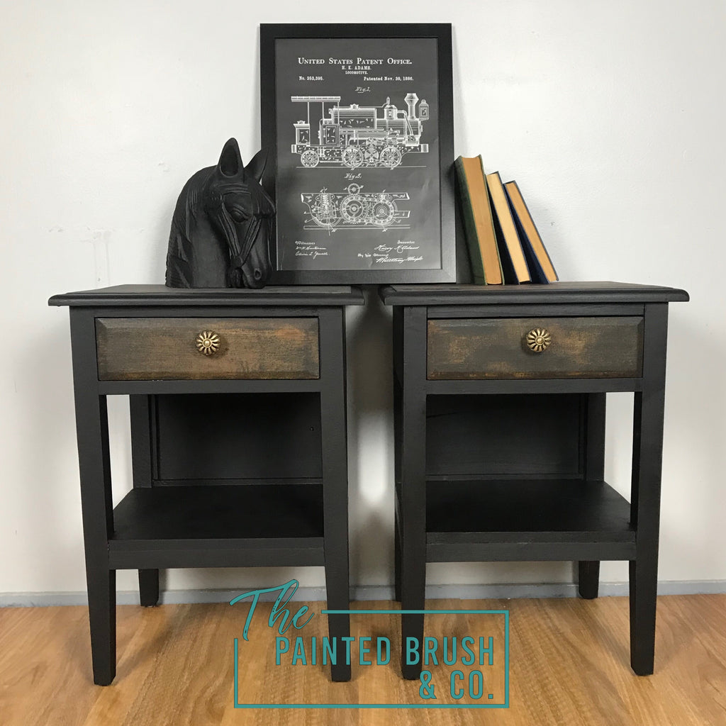 Rusty Industrial Bedside Tables (Pair)