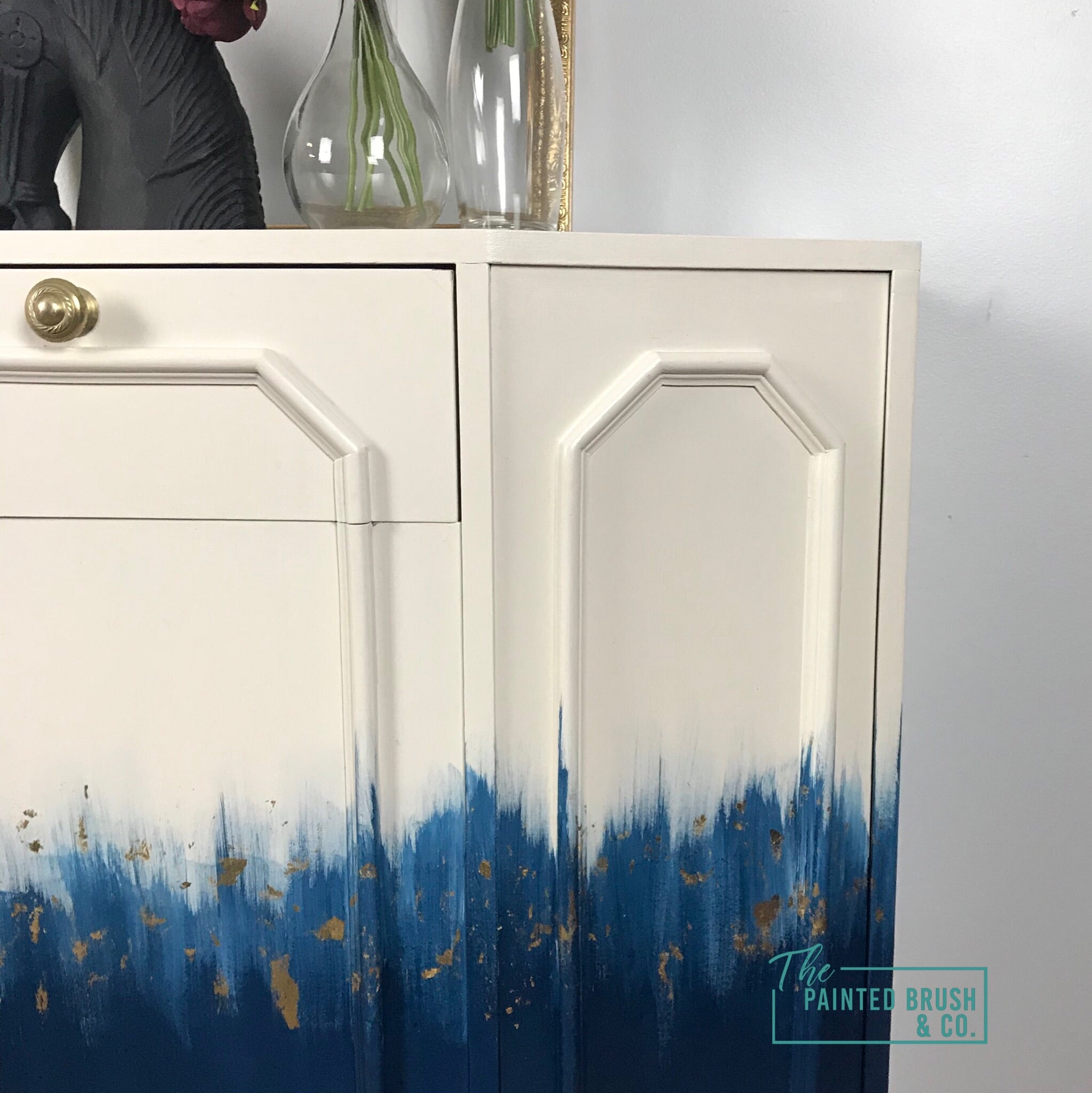 Blended Gold leaf  sideboard