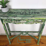 Green boho hall table