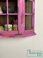 Rusted Ombré wall display cabinet