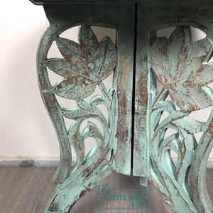 Boho Handcarved Table