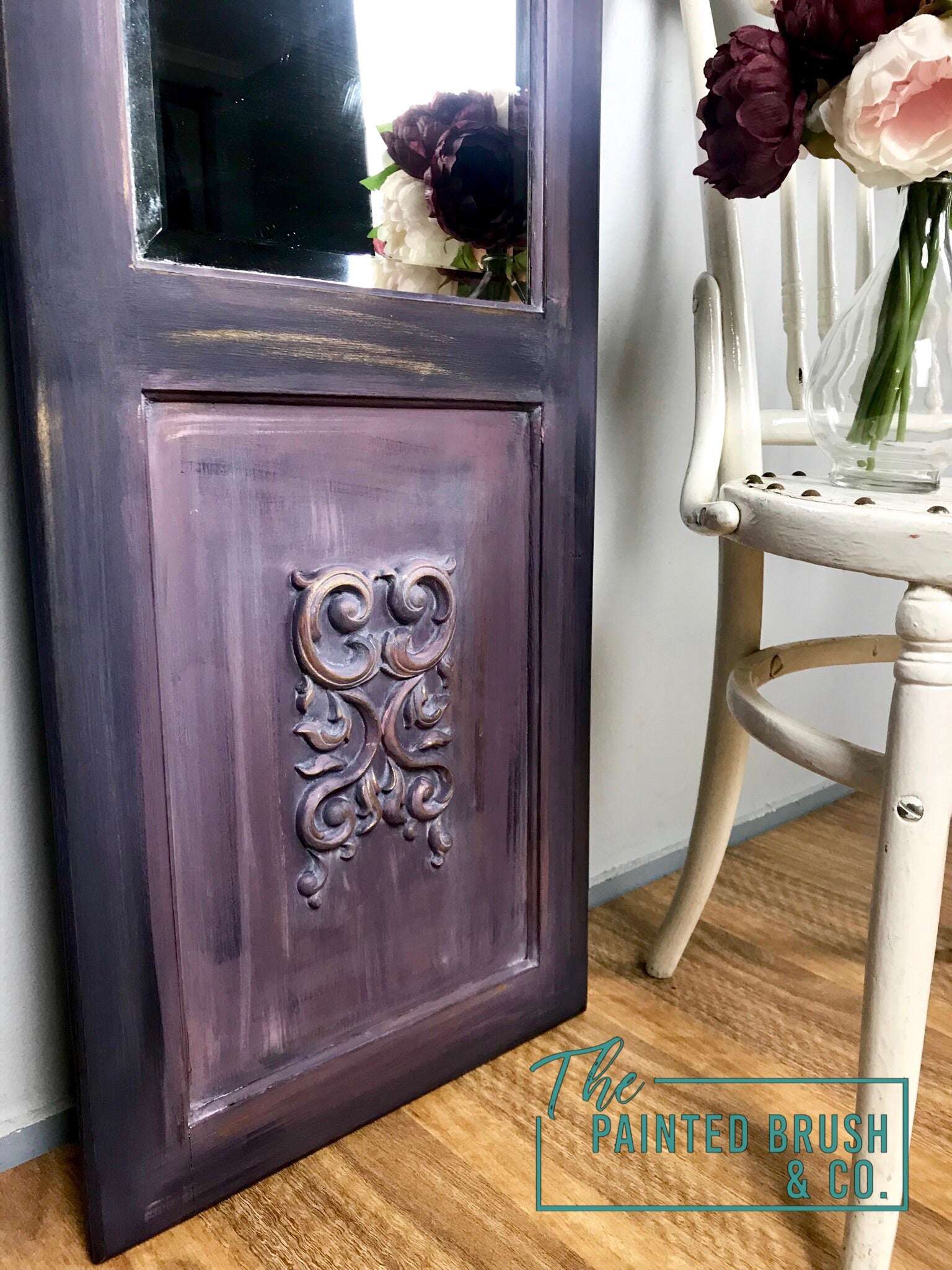 Upcycled Free Standing Mirror