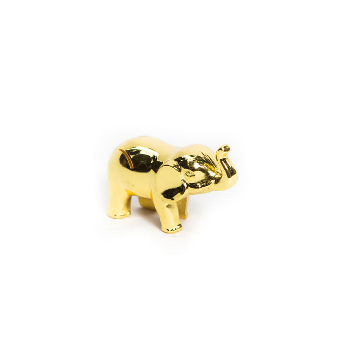 Gold Elephant Place Card Holder