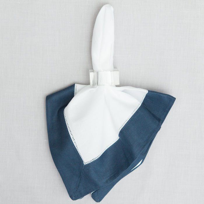 Large Navy Blue Border Dinner Napkin