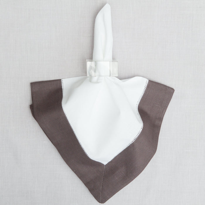 Large Grey Border Dinner Napkin