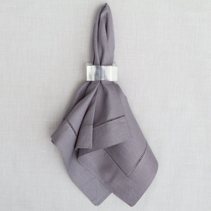 Grey Hemstitched Dinner Napkin
