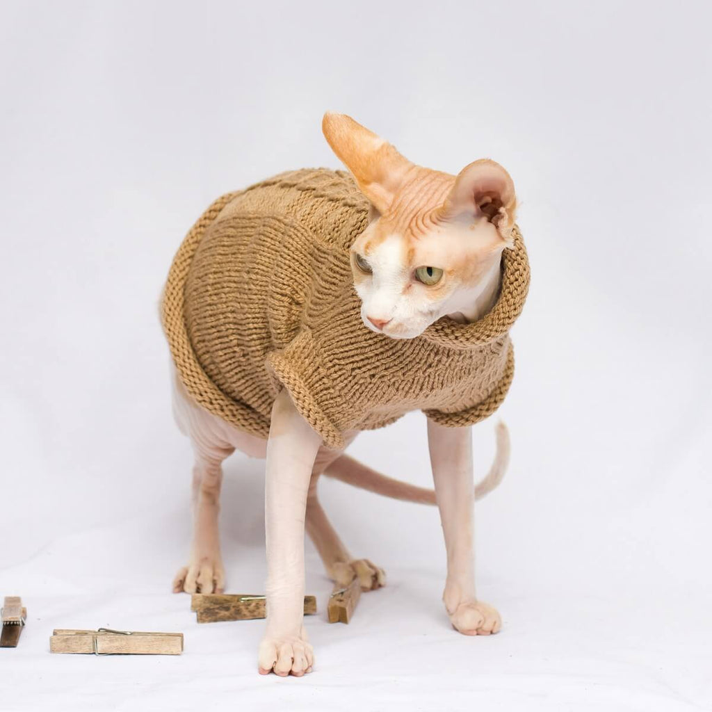 Trumpet Pullover For Cats and dogs. Dog sweater. Cat sweater. Cat wear. Sphynx wear.