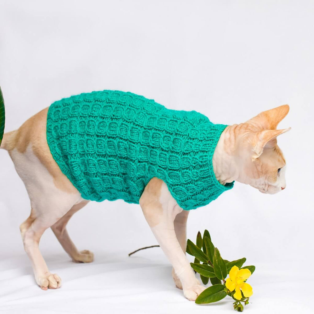 Crazy About Cables Cat Sweater