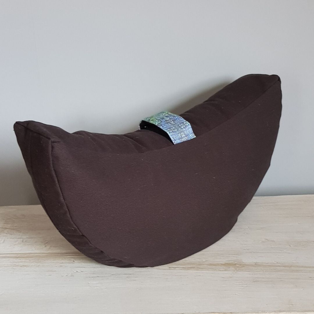 Organic Buckwheat Crescent-Shaped Yoga Cushion