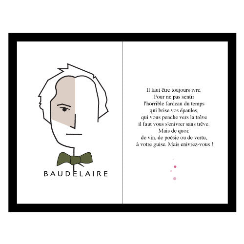Baudelaire with quote Art Frame