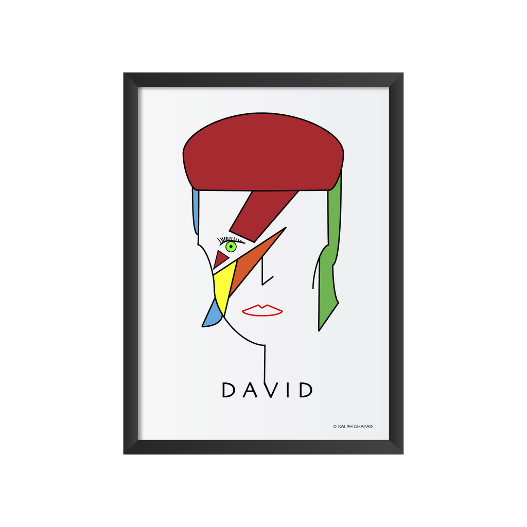 David Bowie Art Frame