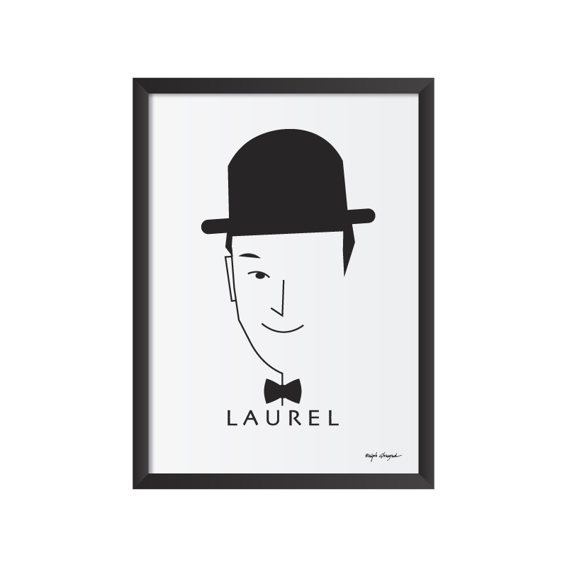 Laurel and Hardy Art Frame